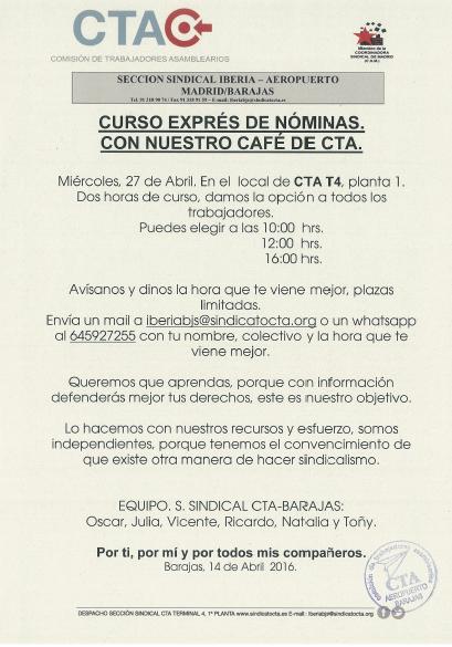 Curso express Nominas Iberia