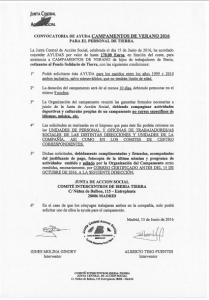 Ayuda Campamentos Iberia