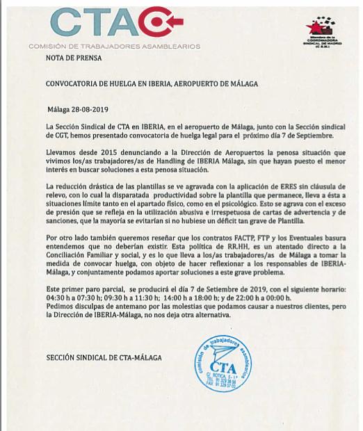 Huelga Málaga