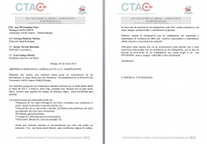 Carta a la Dirección de Aeropuertos