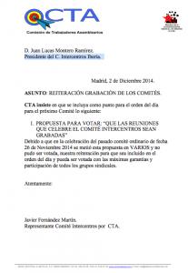 Peticion grabacion COmites_Sindicato CTA