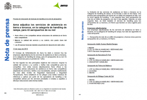 Adjudicaciones Aena
