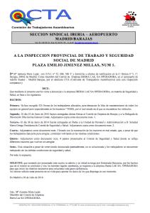 Denuncia Tractores Iberia Barajas