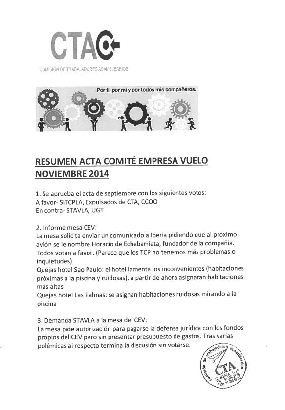 Comité Empresa_Vuelo