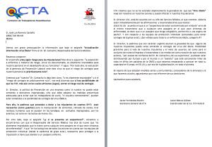 TCP IBERIA EBOLA_CTA SINDICATO