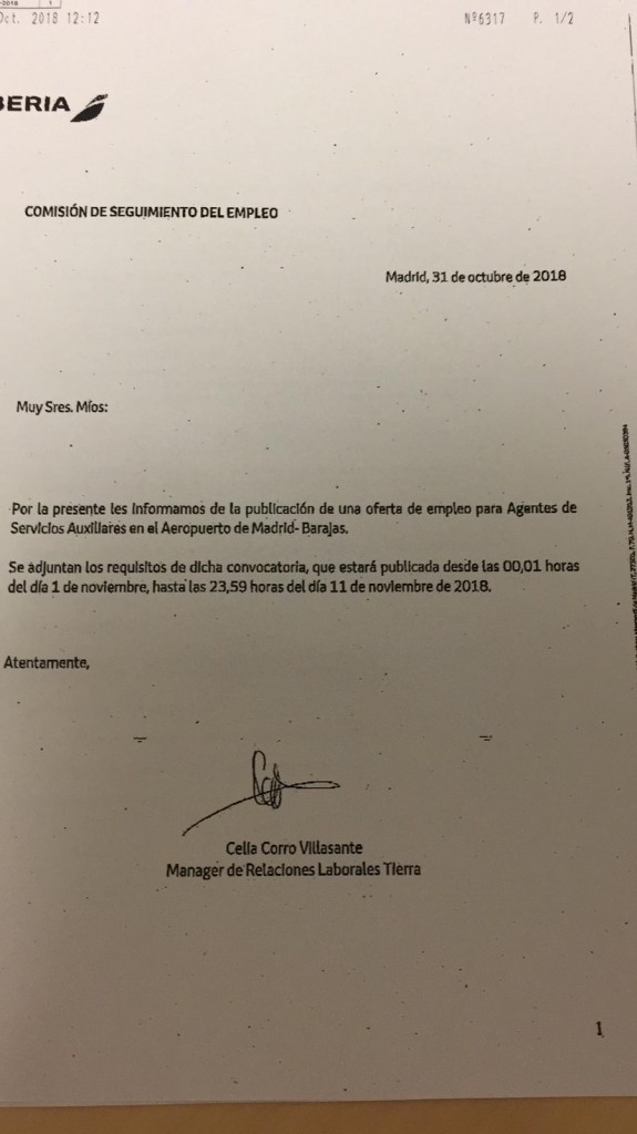OFERTA DE EMPLEO AGSA MADRID