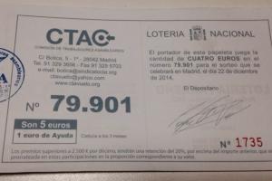 Loteria Navidad CTA 2014